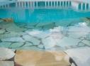 Degraus da piscina